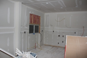 Drywall - a welcome sight!