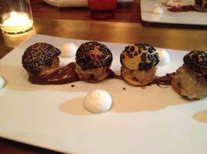 Crunchy Chocolate Profiteroles at RN 74