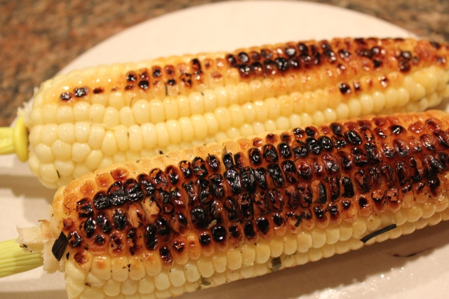 Habanero grilled corn