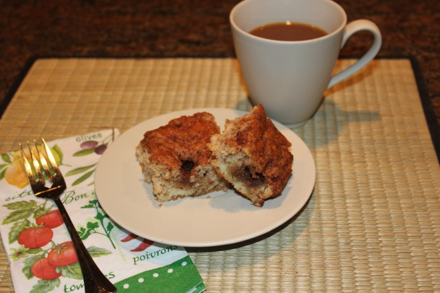 Coffee break with Krusteaz crumb cake