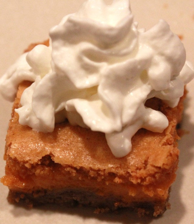 Fancy Krusteaz pumpkin pie bar