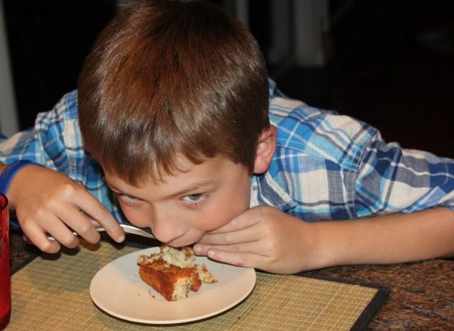 Gabe loves Krusteaz crumb cake