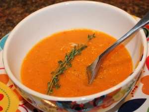 Kel's Roasted Butternut Squash and Red pepper Soup2