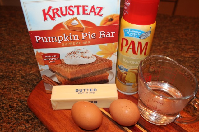 Krusteaz Pumpkin Pie bar ingredients