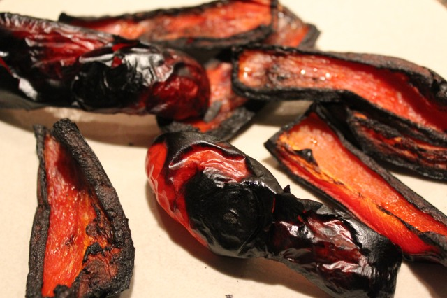 Roasted red bell pepper