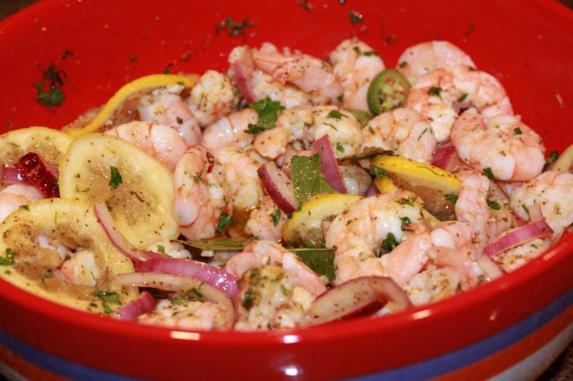 Shrimp is ready to refrigerate overnight