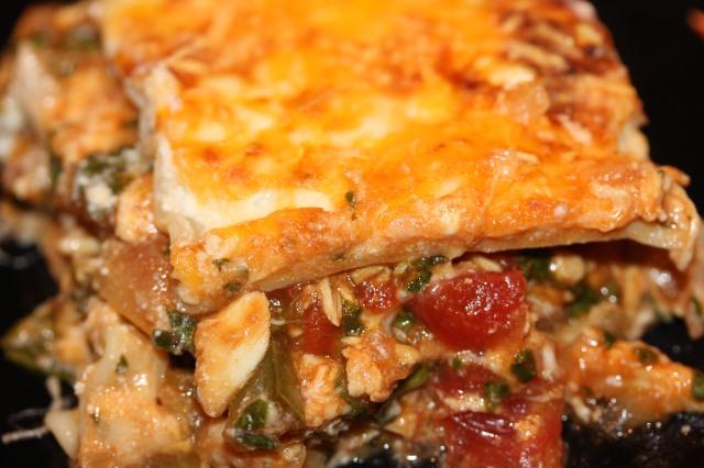 Buffalo chicken lasagna heaven