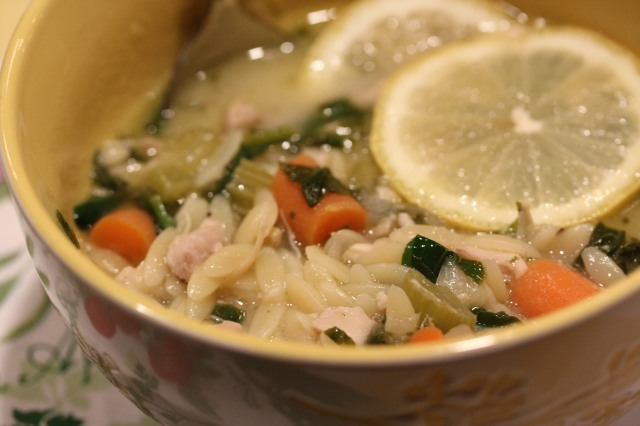 Doesn't Kel's lemony chicken soup look awesome!