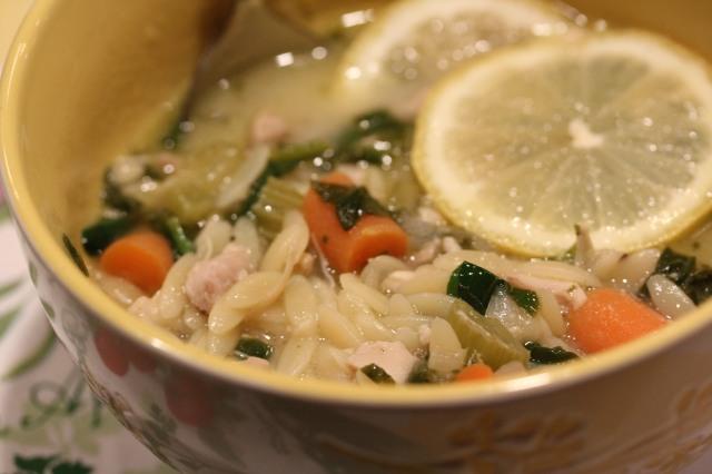 Doesn't Kel's lemony chicken soup look awesome!