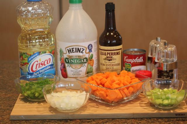 Kel's Marinated carrot ingredients