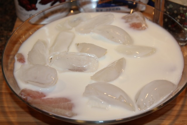 Soak tilapia in milk