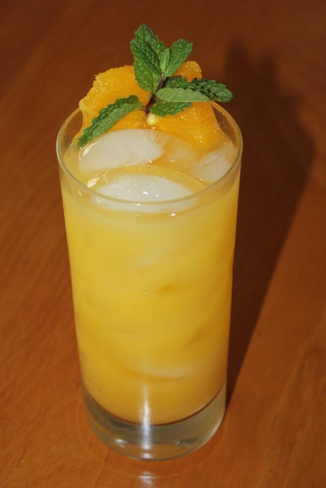 Adult macerated oranges screwdriver