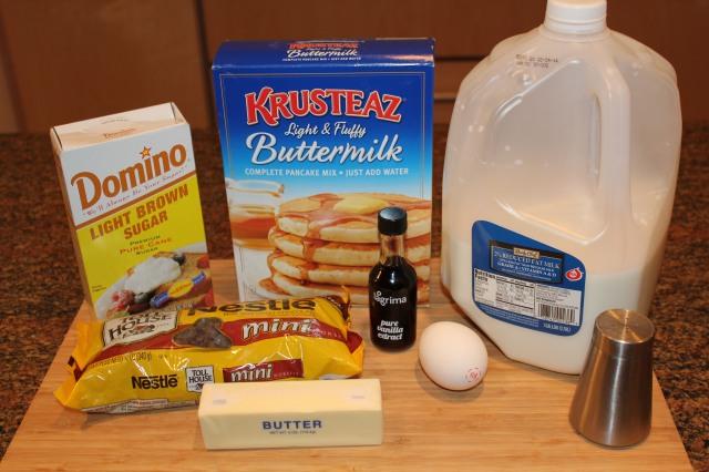 Chocolate chip cookie pancake ingredients