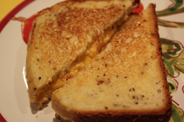 grilled  pimento cheese on Kel's dill bread