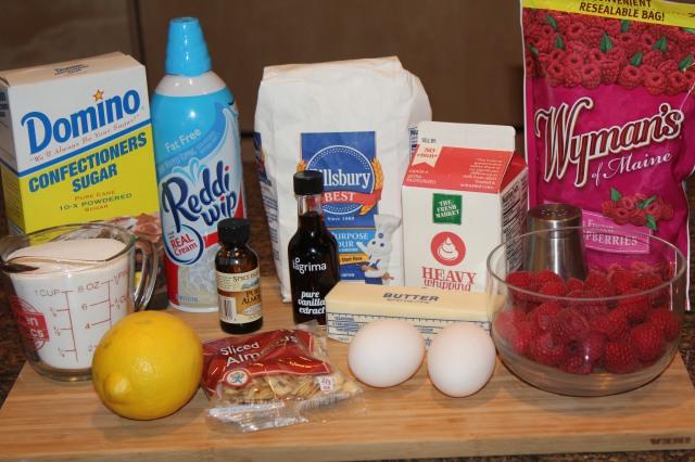 Kel's Cafe Frozen Raspberry Torte ingredients
