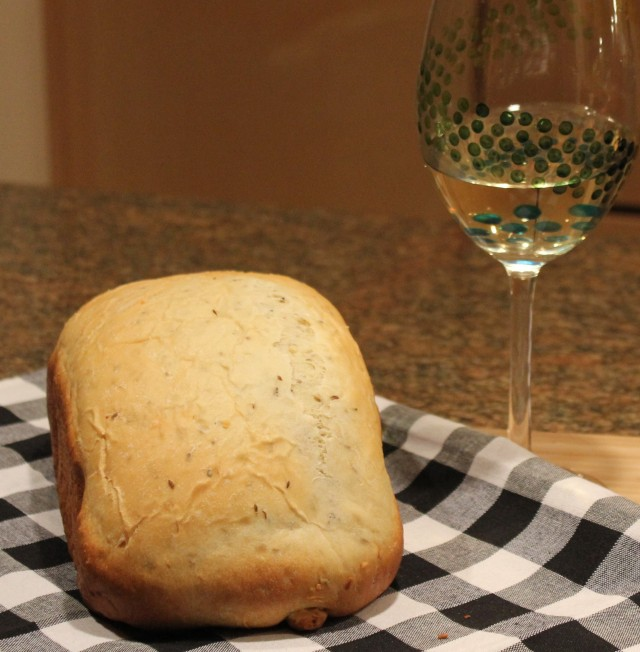 Kel's dill bread and wine