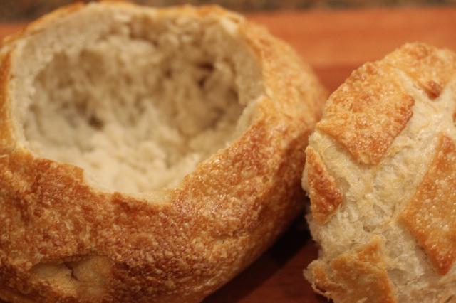 Prepare bread bowl