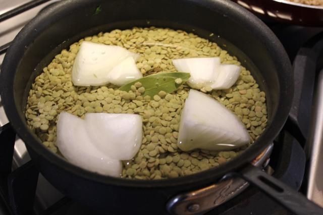 Prepare the lentils