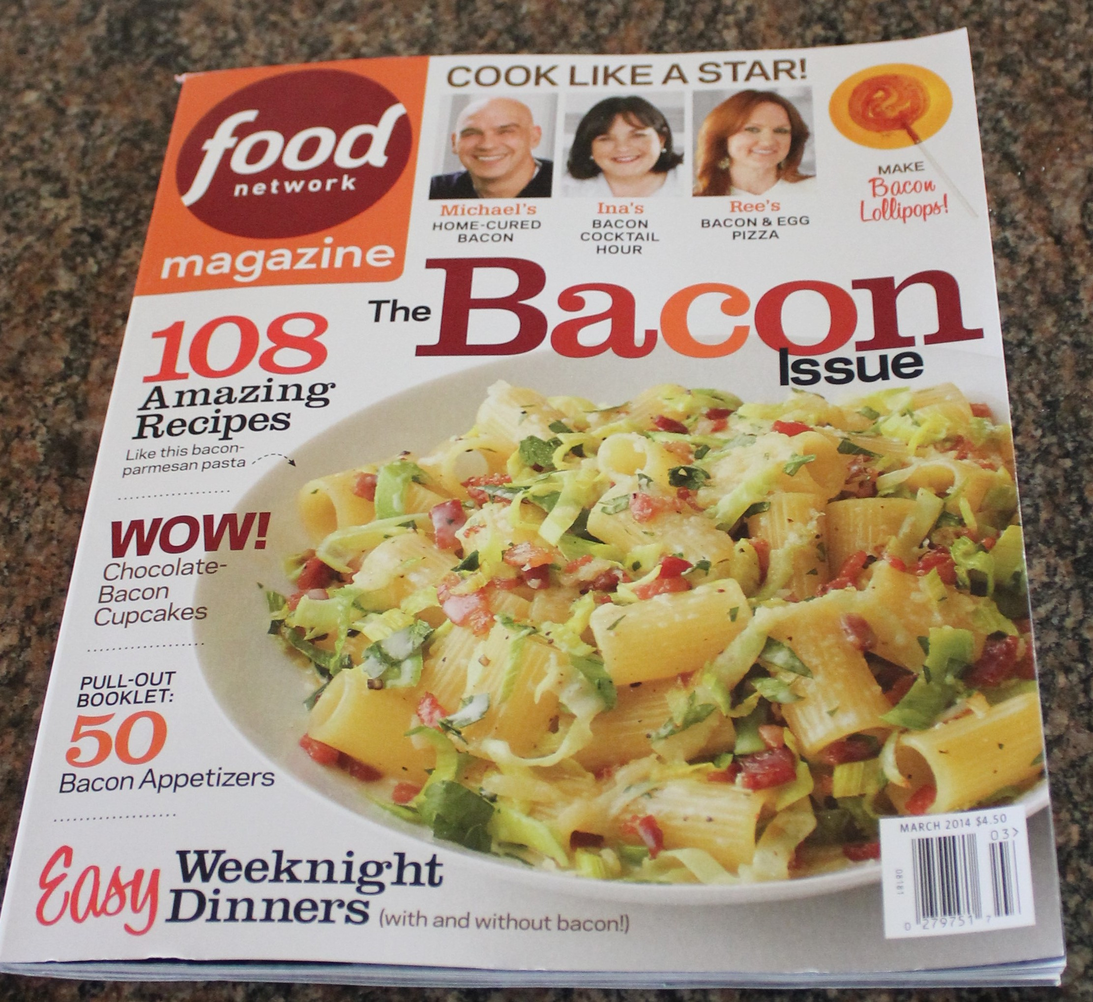 Bacon issue of food network magazine kels cafe of all things food food network magazine bacon issue mar2014 forumfinder Gallery