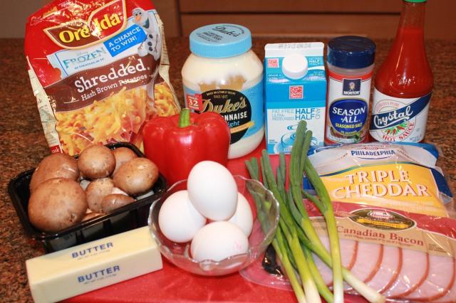 Kel's hash brown crust quiche ingredients