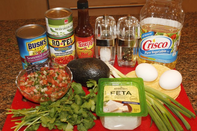 Kel's Heuvos Rancheros ingredients