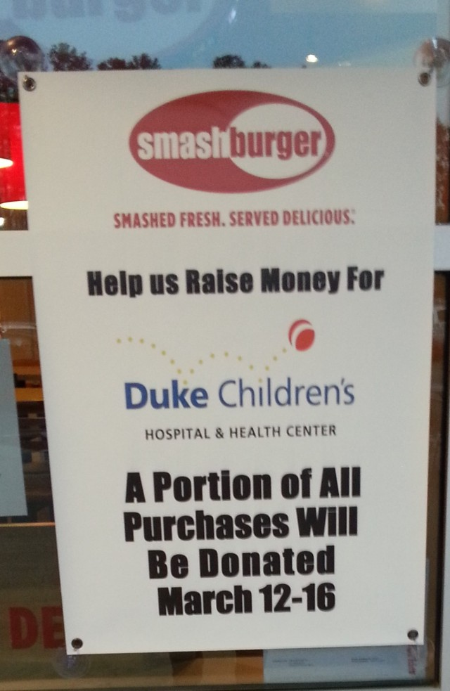 Smashburger giving to the community