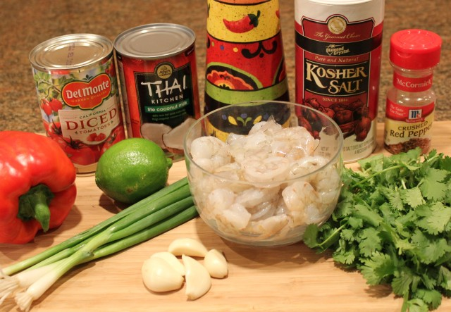 Thai-inspired shrimp ingredients