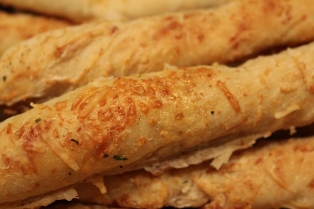 Kel's breadsticks closeup