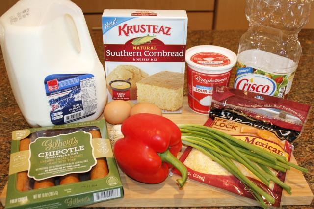 Kel's cornbread muffins ingredients
