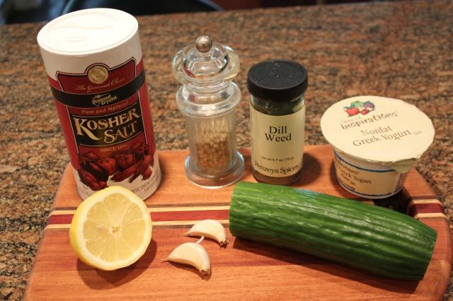 Kel's tzatziki sauce ingredients