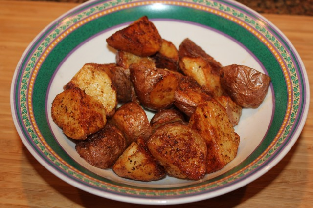 Roasted potatoes ready to eat!