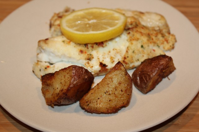 These potatoes go great with grilled fish