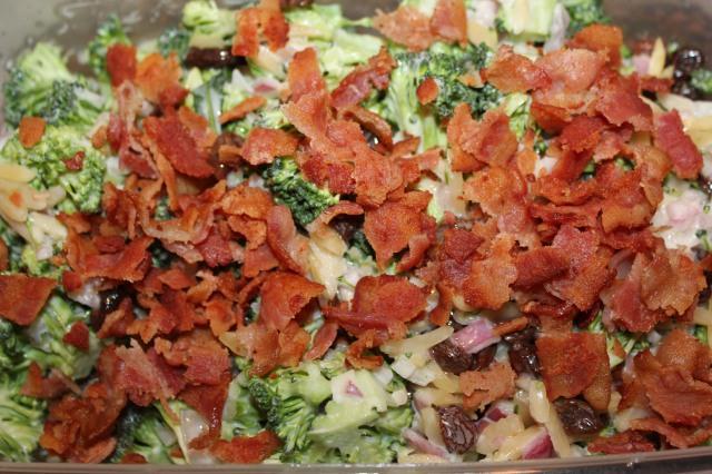add bacon to broccoli salad