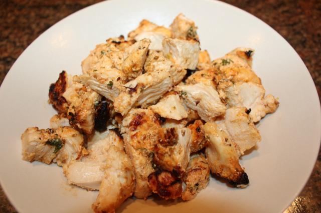 Cut chicken into smaller pieces