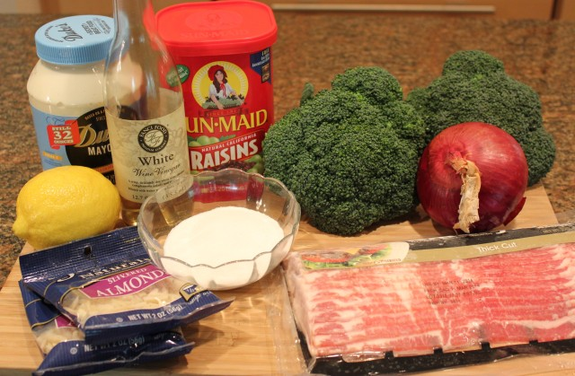 Kel's Best Broccoli salad ingredients