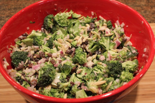 Kel's broccoli salad sans bacon
