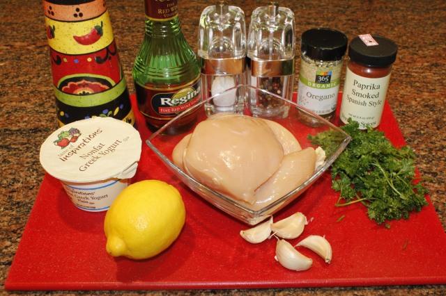 Kel's Mediterranean-Inspired Chicken ingredients