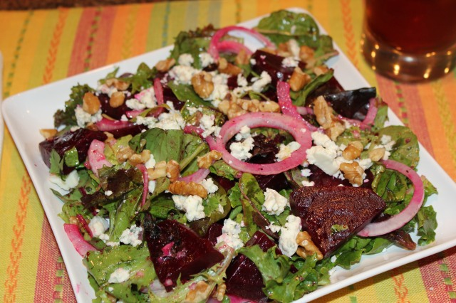 Kel's roasted beet salad