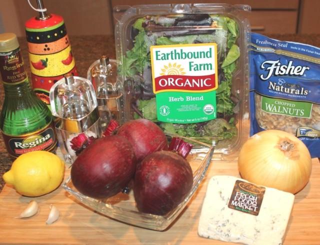 Kel's Roasted Red Beet Salad Ingredients
