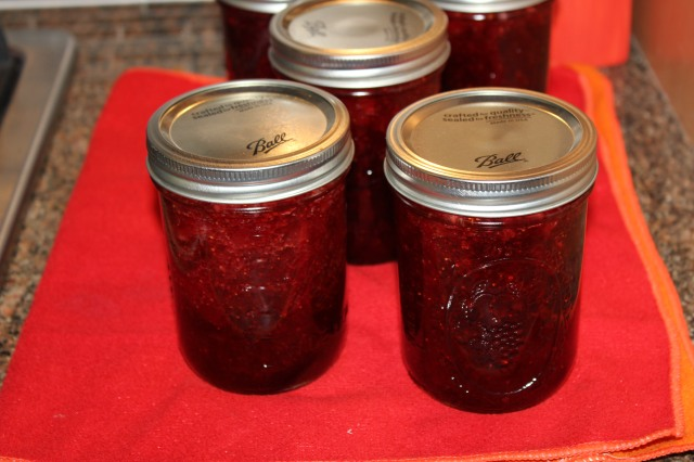 Let Kel's strawberry preserves cool