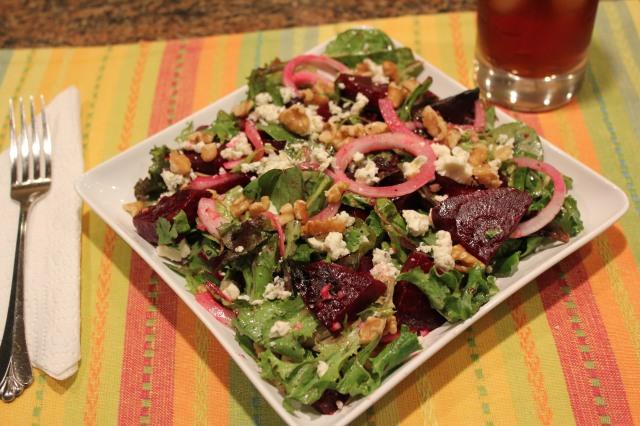 Let's eat Kel's beet salad!