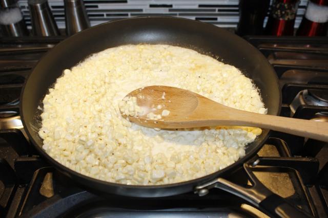 Simmer corn mixture