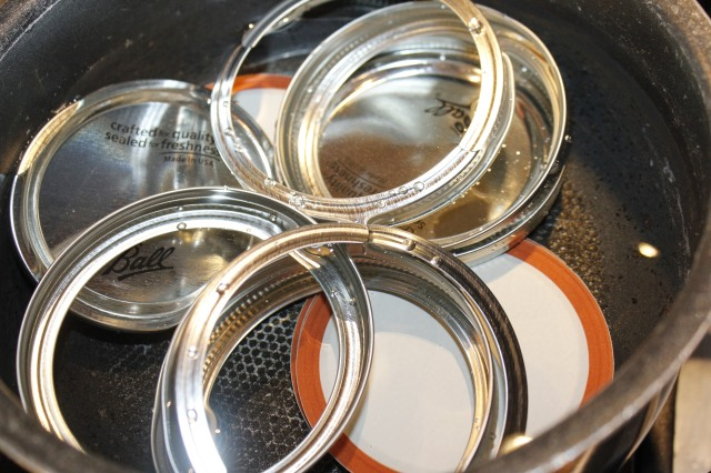 Sterilize lids and bands