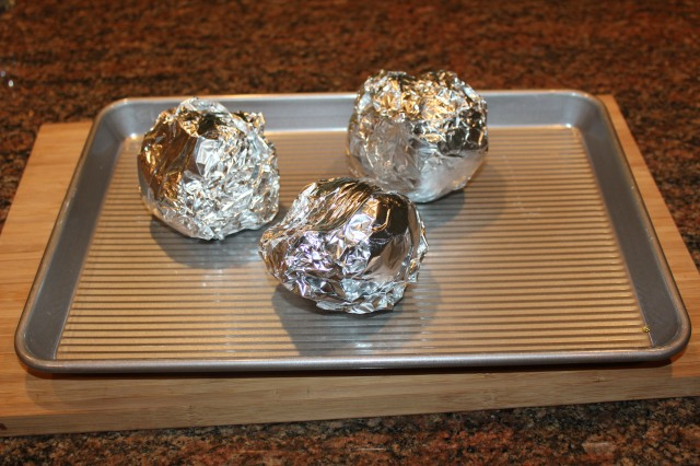 Wrap beets in foil