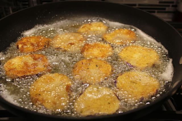 Fry eggplant