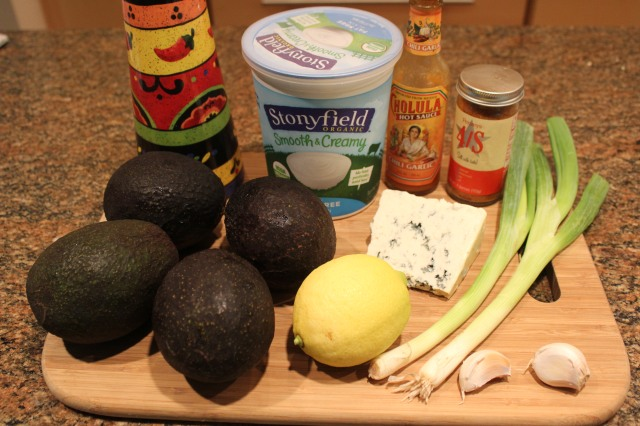 Kel's Bleu cheese avocado dip ingredients