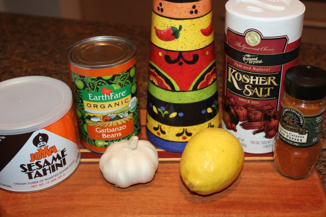 Kel's Garlic Hummus Ingredients