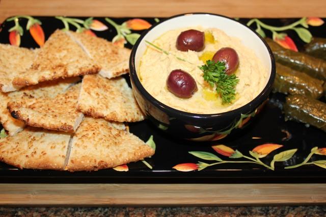 Kel's Garlic Hummus perfect party fare