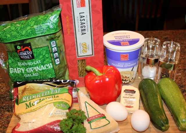 Kel's veggie lasagna rollups ingredients