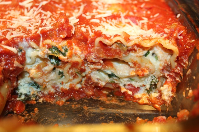 lasagna roll-ups, up close